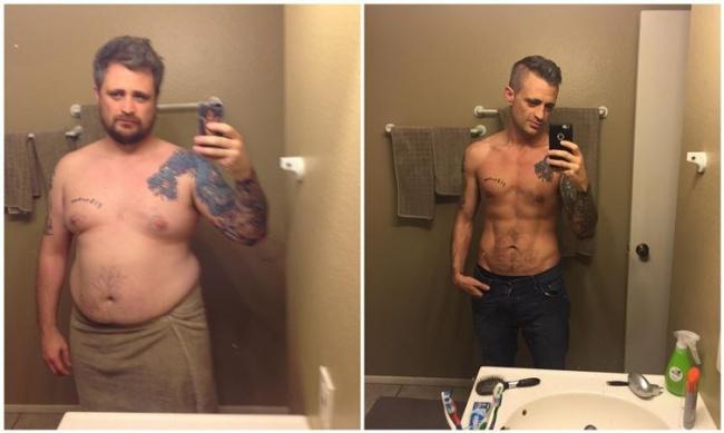 15 fogyás férfi fogyás átalakulása előtte és utána