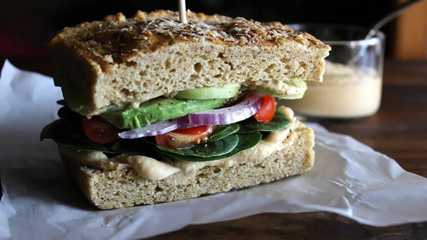 egészséges zöldség szendvics a fogyáshoz