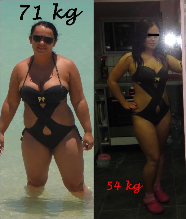 55 kilós fogyás hím
