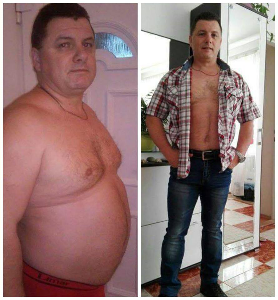 fogyókúrás férfiak előtt és után)
