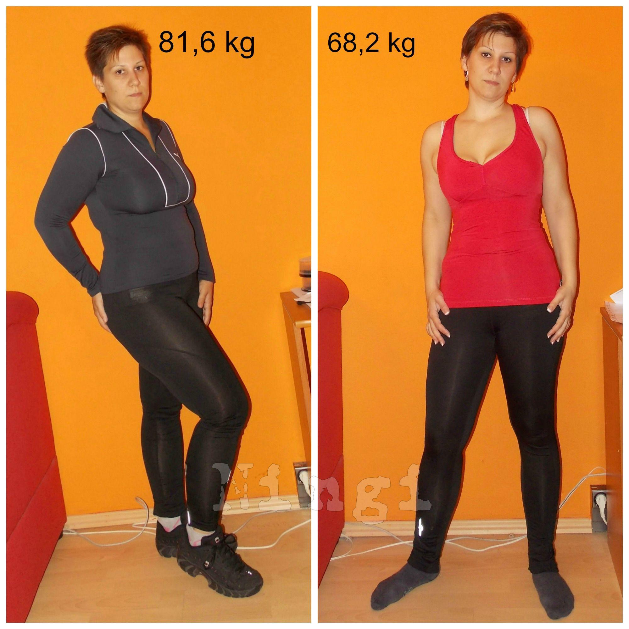 68 kg fogyás